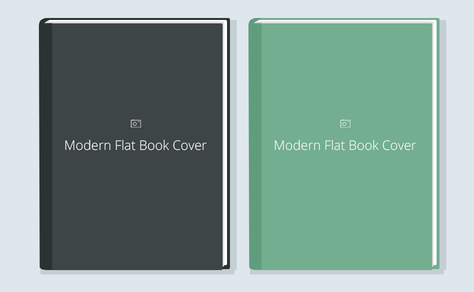 Modern Flat Book Cover