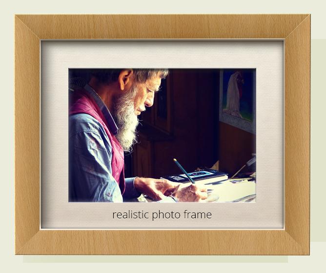Wooden Picture Frame Mockups